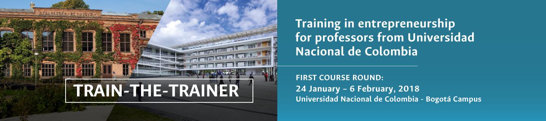 Train-the-trainer: Training in entrepreneurship for professors from Universidad Nacional de Colombia