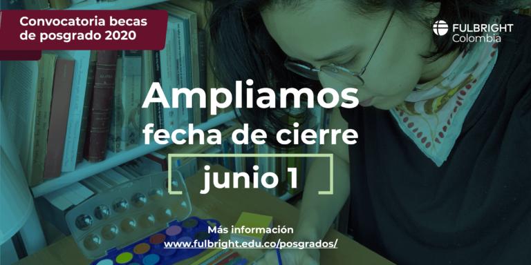 Becas Fulbright de posgrado en Estados Unidos para colombianos 2020