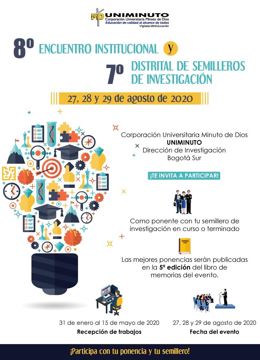 8.° Encuentro Institucional y 7° Distrital de Semilleros de Investigación Uniminuto